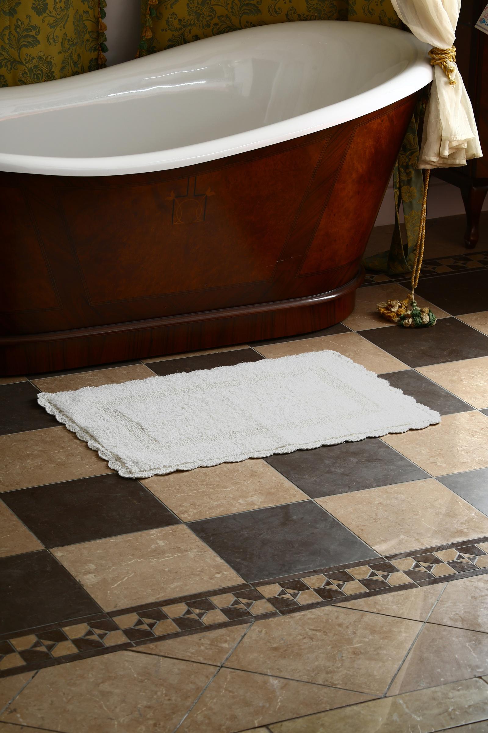 Фото - Коврик для ванной Arloni Коврик Лейс (белый) с кружевом 50х80 arloni коврик самотканный для ванной