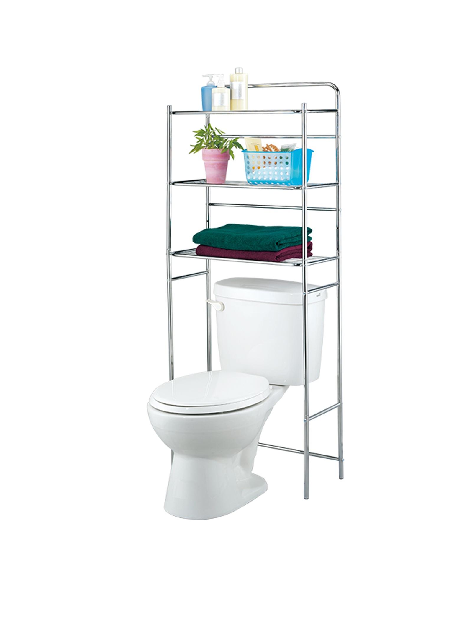 Полка для ванной комнаты UniStor Стеллаж - полка напольная трёхъярусная CODY для ванной комнаты туалета, Нержавеющая сталь
