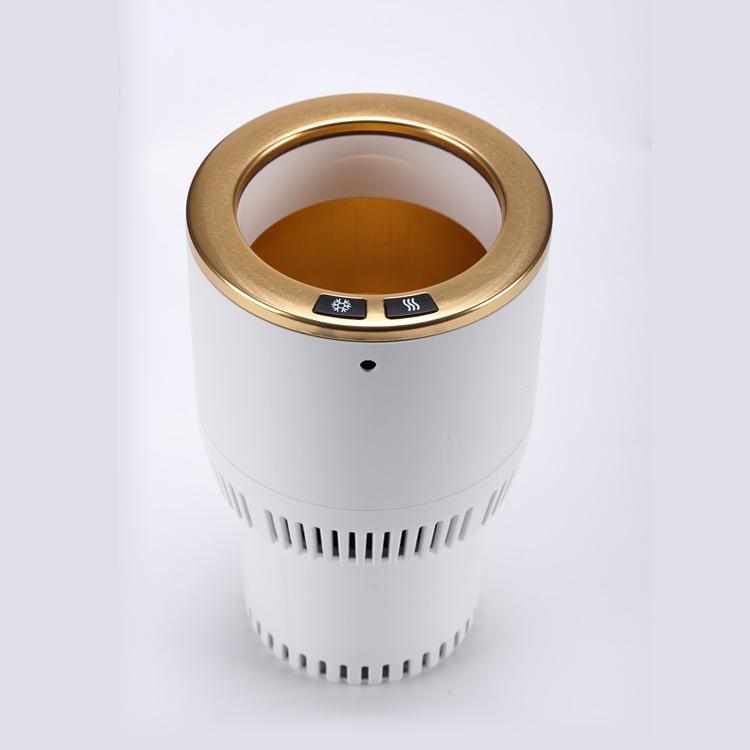 Электрический подстаканник Paltier Умный термоподстканник для подогрева и охлаждения напитков в автомобиле белый с золотом, белый