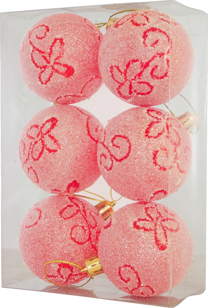 Набор елочных шаров Магия праздника, NY049, диаметр 6 см, 6 шт набор елочных игрушек сердечки нф 107 9 шт
