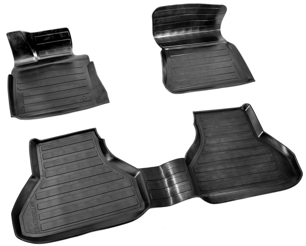 лучшая цена Коврики в салон автомобиля Avtodriver резиновые с бортиком для BMW X5 (2007-2013), ADRAVG103, черный