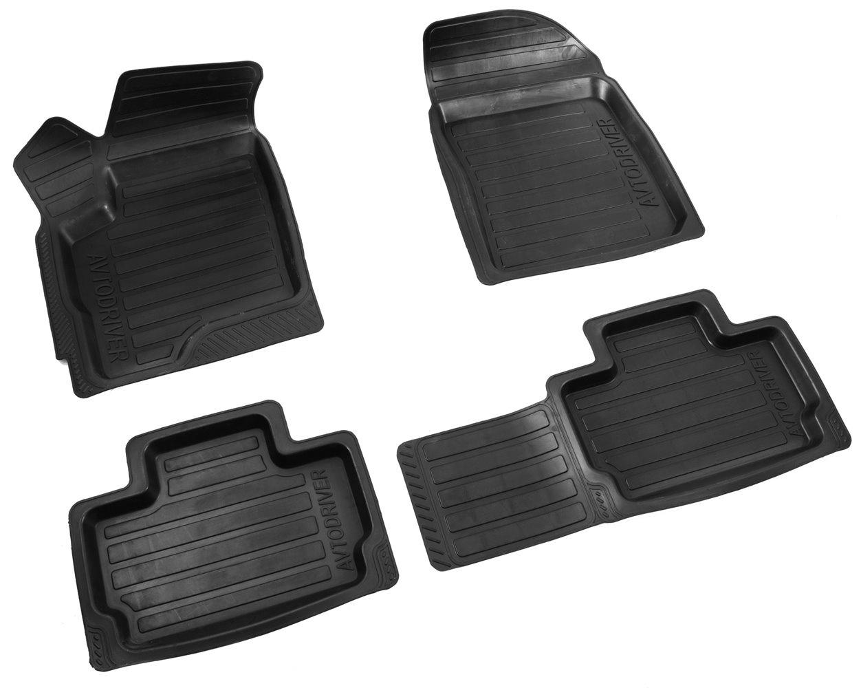 Коврики в салон автомобиля Avtodriver резиновые с бортиком для Chery Bonus (2011-2013), ADRAVG105, черный мультиварка ves sk a13 b