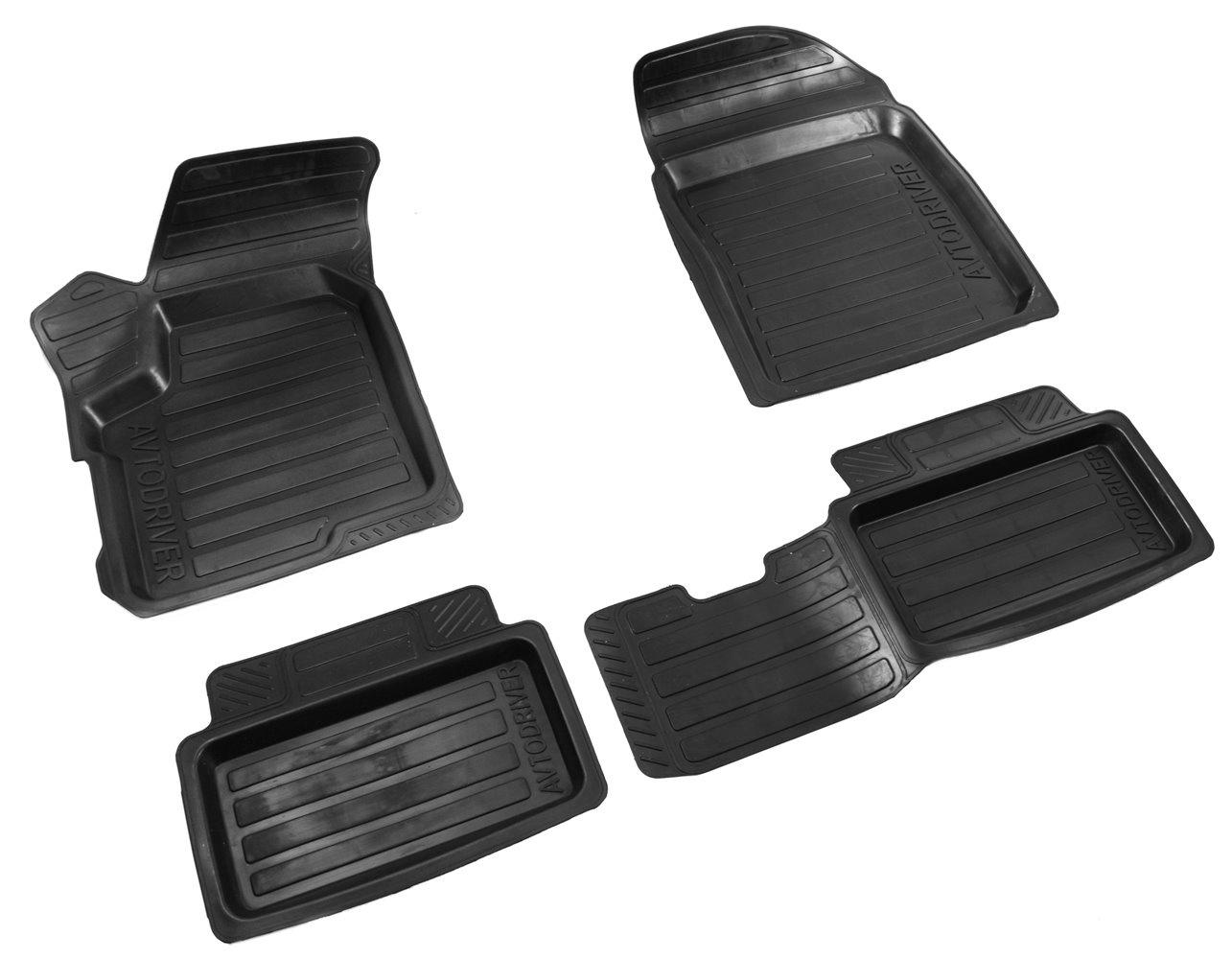 Коврики в салон автомобиля Avtodriver резиновые с бортиком для Chery Indis (2011-), ADRAVG032, черный коврики салона avtodriver для renault duster передний привод 2011 adrjet023 резиновые с бортиком черный