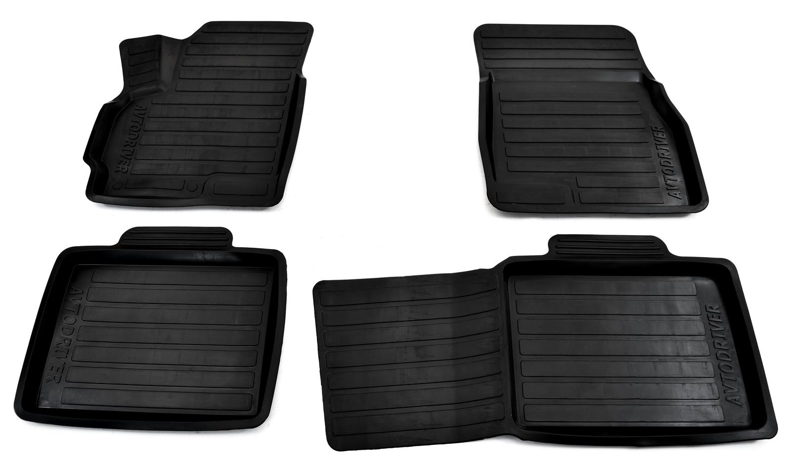 Коврики в салон автомобиля Avtodriver резиновые с бортиком для Chery Tiggo 5 (2015-), ADRAVG026, черный ковры в салон элерон chery tiggo 5 t21 2014 салон 3d