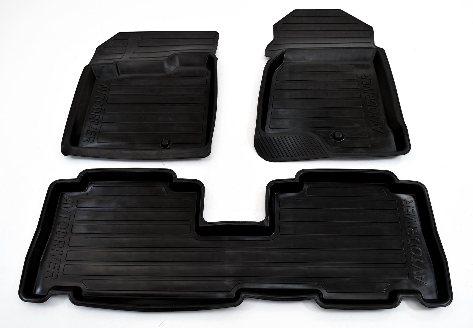 цена на Коврики в салон автомобиля Avtodriver резиновые с бортиком для Chevrolet Captiva (2011-2013-), ADRAVG016, черный