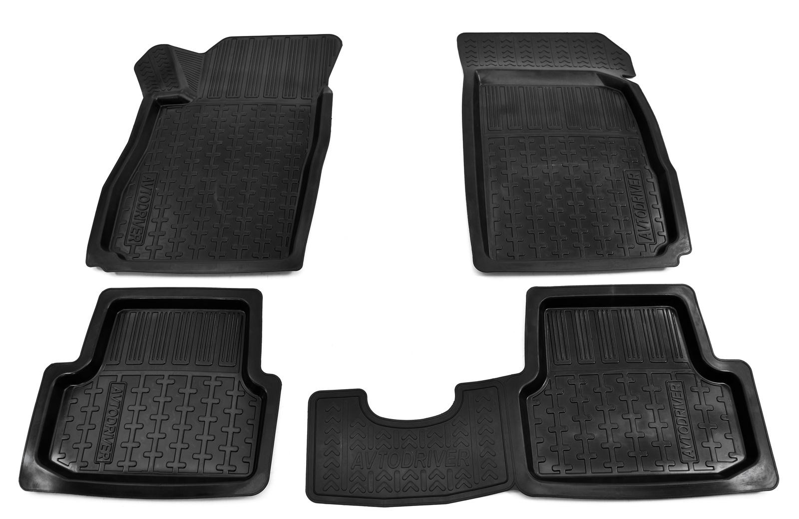 Коврики в салон автомобиля Avtodriver резиновые с бортиком для Chevrolet Cobalt (2012-), ADRPRO008, черный сейф cobalt k 23