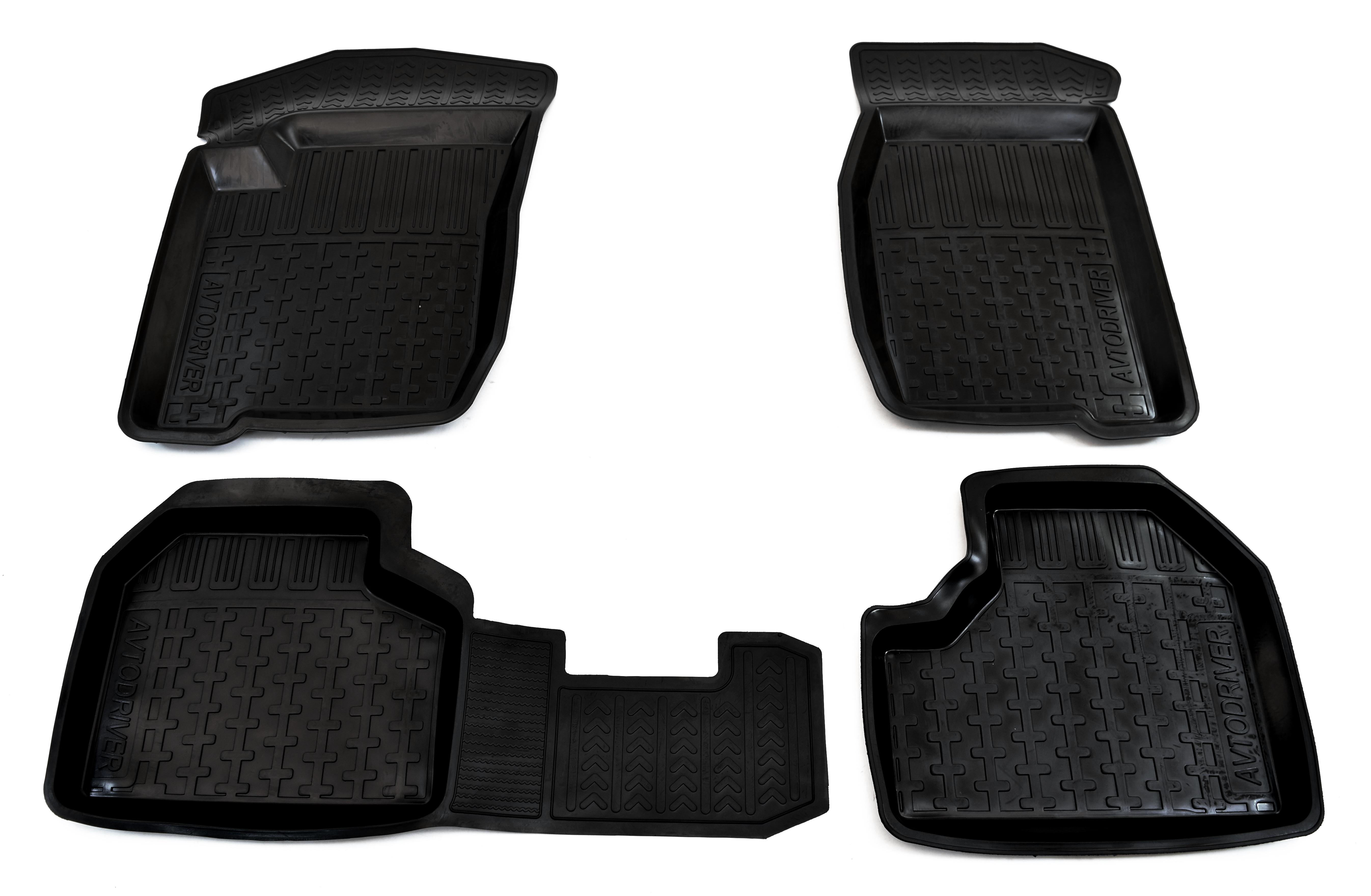 Коврики в салон автомобиля Avtodriver резиновые с бортиком для Chevrolet NIVА (2002-), ADRJET010, черный for chevrolet niva 2002 2009 trunk mat element nlc5215b13