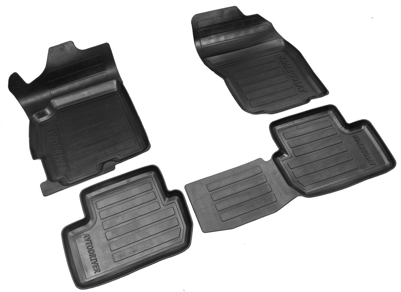 Коврики в салон автомобиля Avtodriver для Citroen C4 Aircross (2012-) с бортиком, ADRAVG235, черный, 4 шт g peters rey quasi rondo