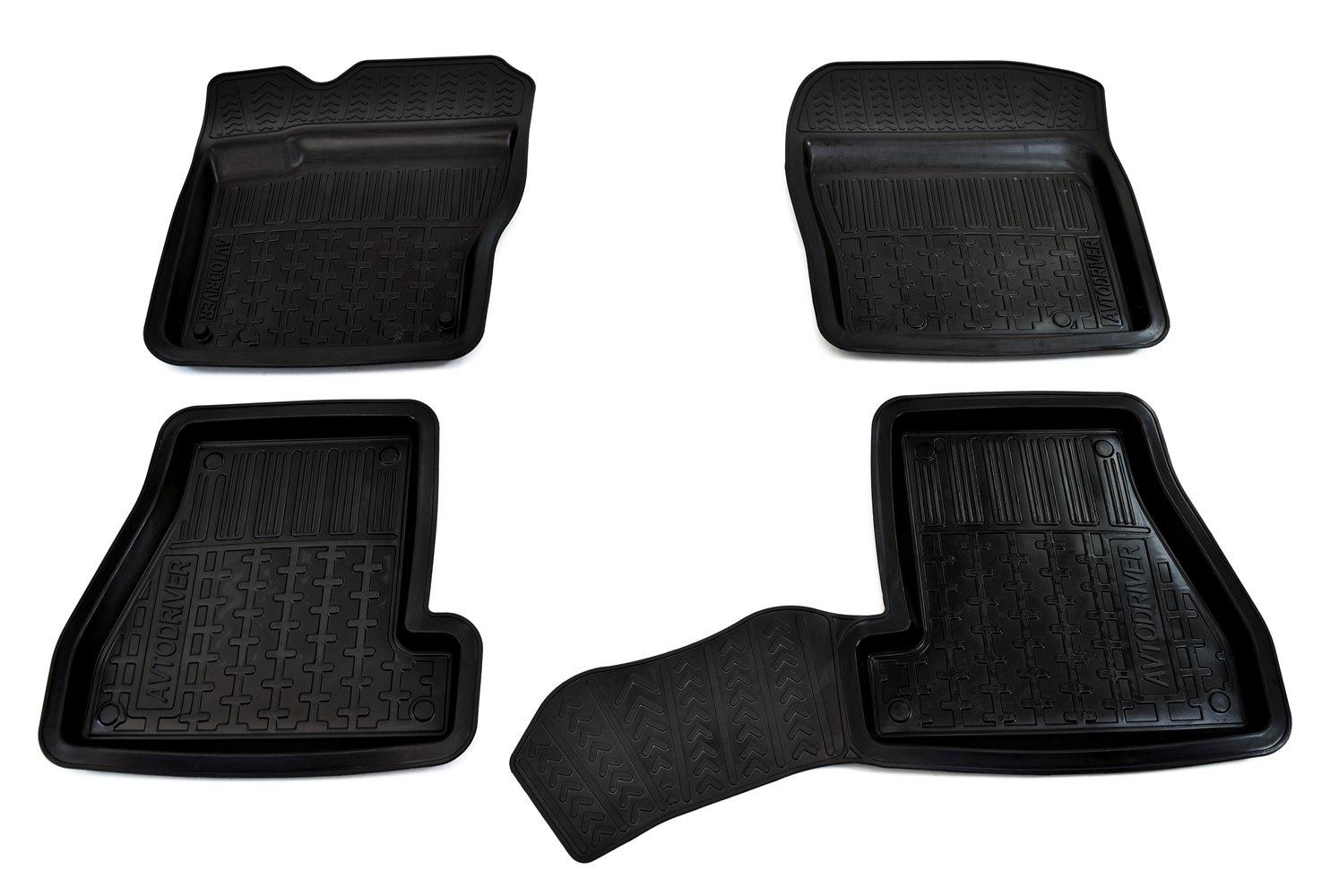 цены на Коврики в салон автомобиля Avtodriver, для Ford Focus II, 2005-2011, ADRPRO029, резиновые, с бортиком, черный  в интернет-магазинах