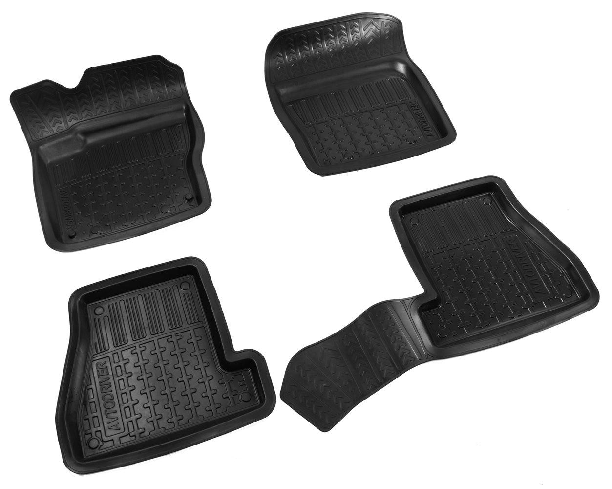 цена на Коврики в салон автомобиля Avtodriver, для Ford Focus III, 2011-, ADRPRO018, резиновые, с бортиком, черный