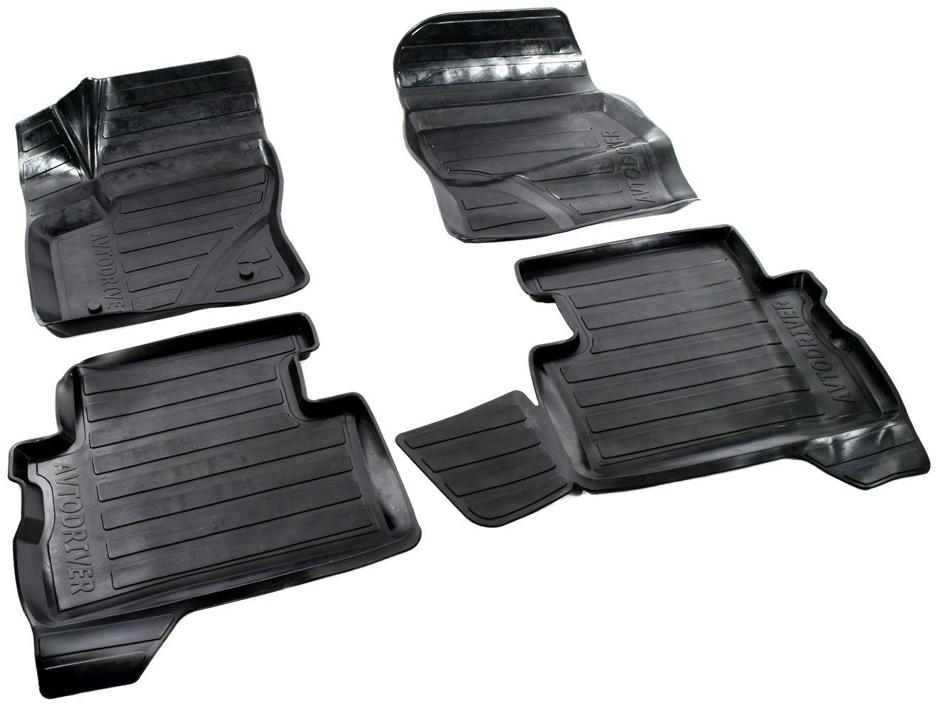 все цены на Коврики в салон автомобиля Avtodriver, для Ford Kuga II, 2012-, ADRAVG136, резиновые, с бортиком, черный онлайн