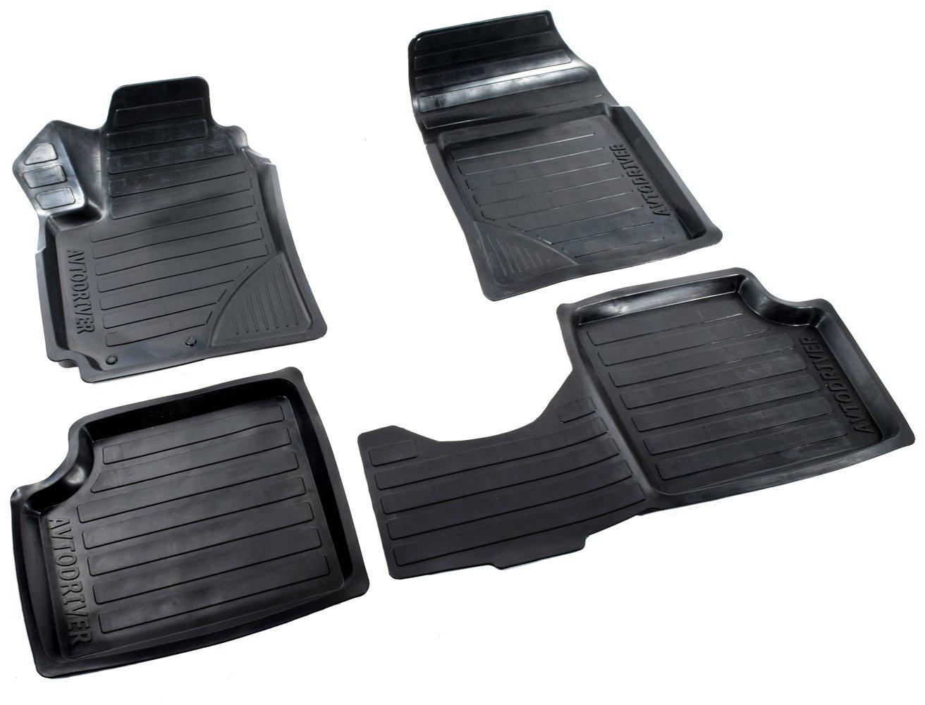 цена на Коврики в салон автомобиля Avtodriver, для Geely Emgrand, 2009-, ADRAVG139, резиновые, с бортиком, черный