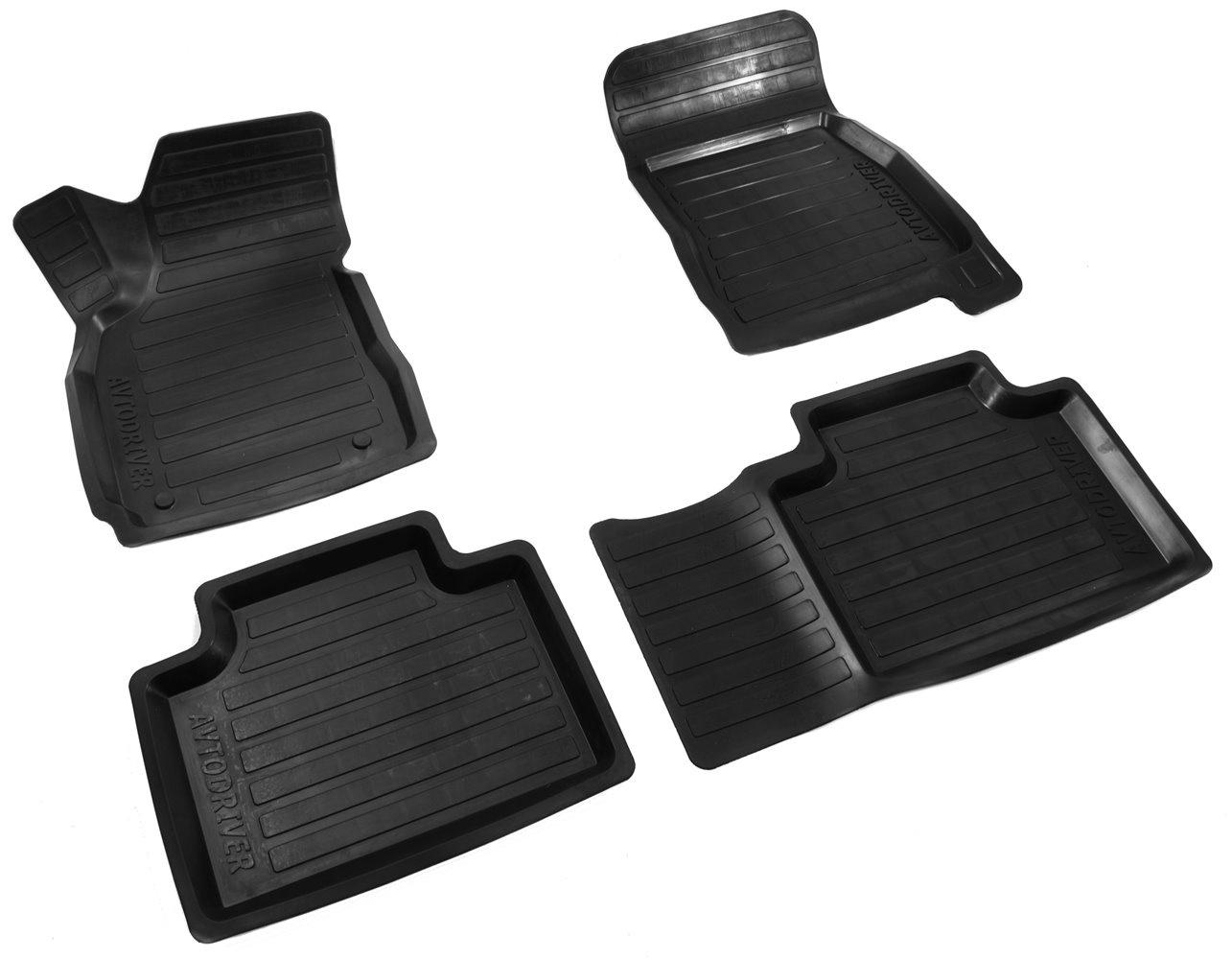 цена на Коврики в салон автомобиля Avtodriver, для Geely Emgrand X7, 2013-, ADRAVG020, резиновые, с бортиком, черный