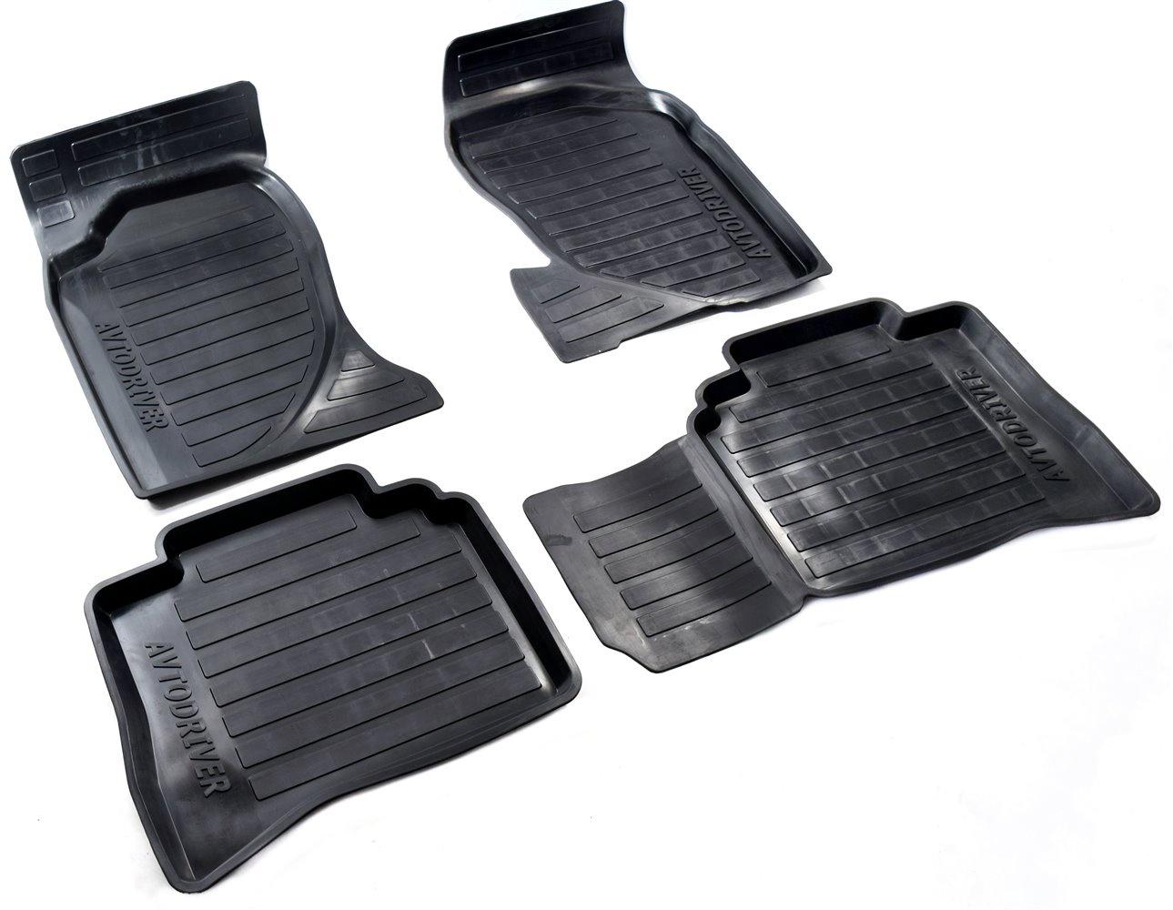 Коврики в салон автомобиля Avtodriver, для Great Wall Hover H3, 2010-, ADRJET044, резиновые, с бортиком, черный дефлекторы на окна с хромом для great wall hover m4 2012