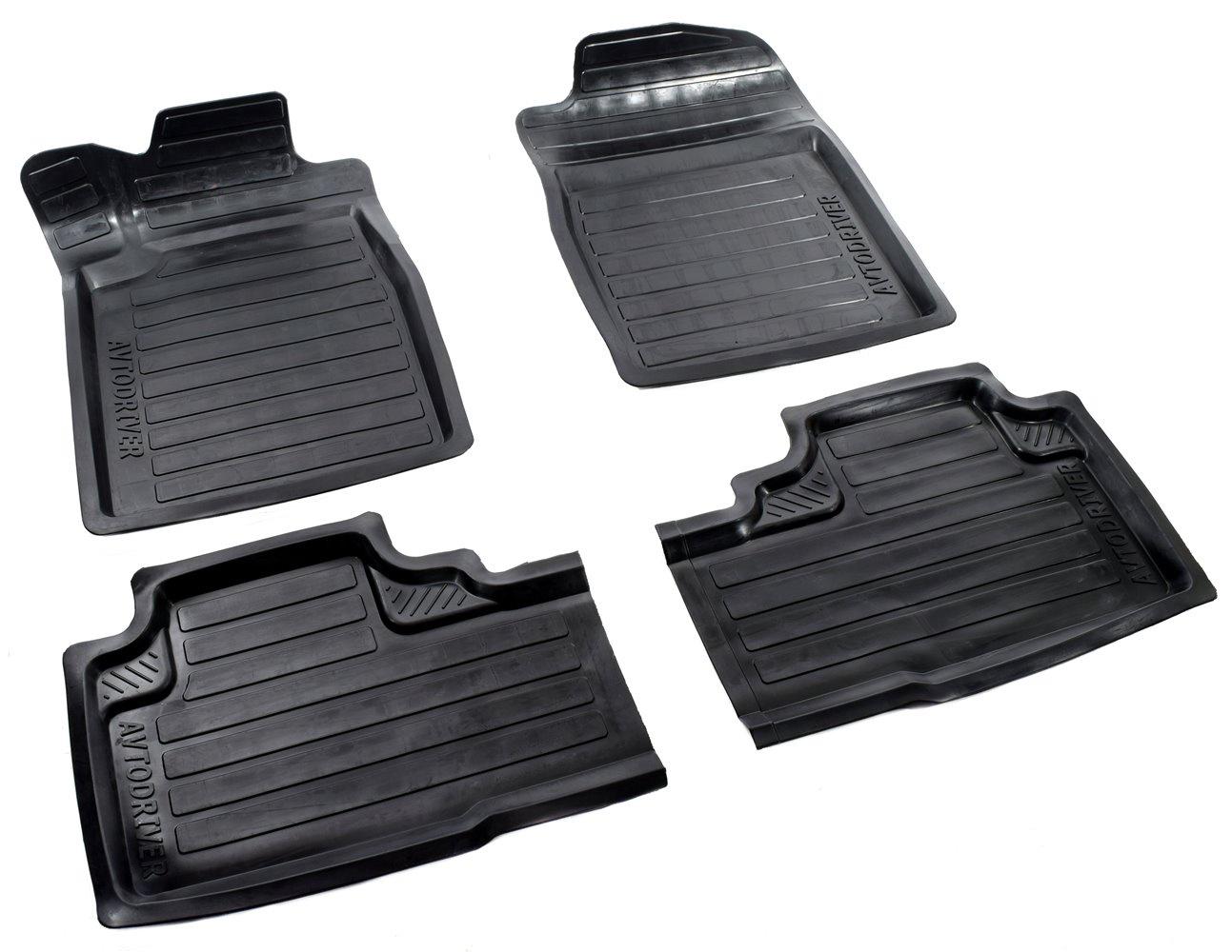 все цены на Коврики в салон автомобиля Avtodriver, для Honda CR-V, 2012-, ADRAVG141, резиновые, с бортиком, черный онлайн