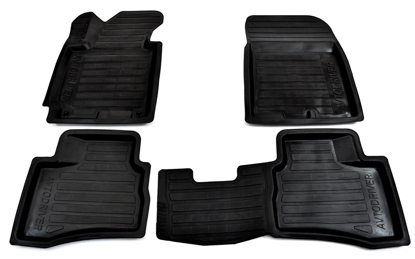Коврики в салон автомобиля Avtodriver, для Hyundai i30, 2012-, ADRPRO020, резиновые, с бортиком, черный