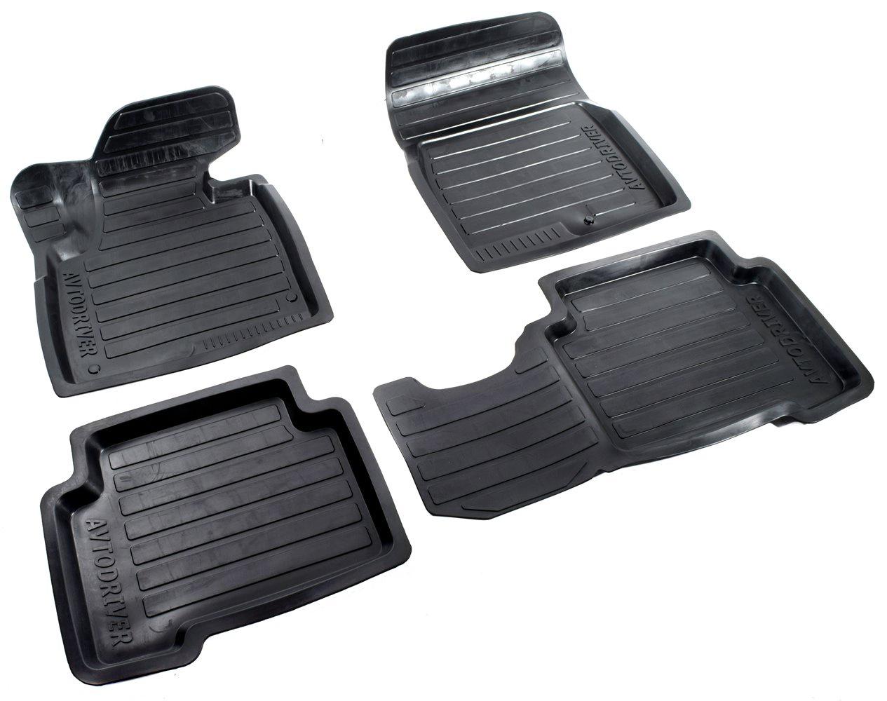 Коврики в салон автомобиля Avtodriver, для Hyundai Santa Fe, 2013-, 2015-2018, ADRAVG150, резиновые, с бортиком, черный цены онлайн