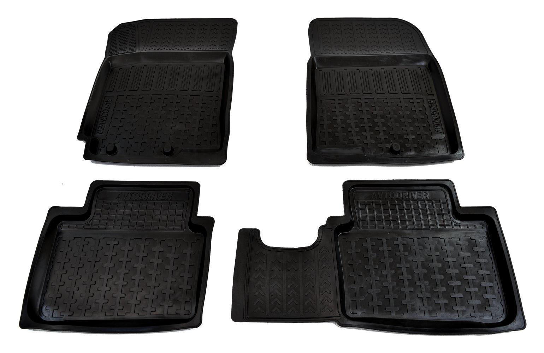 Коврики в салон автомобиля Avtodriver, для Hyundai Solaris, 2010-2017, ADRPRO002, резиновые, с бортиком, черный кевларовая нить solaris s6405