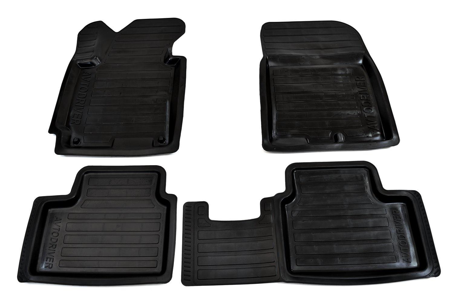 Коврики в салон автомобиля Avtodriver, для Kia Ceed, 2012-, ADRPRO022, резиновые, с бортиком, черный упоры капота тсс для kia ceed 2012 2015