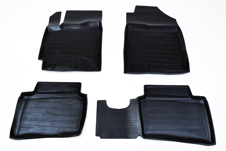 Коврики в салон автомобиля Avtodriver, для Kia Rio, 2017-, ADRPRO004, резиновые, с бортиком, черный туан л чакры семь врат энергии