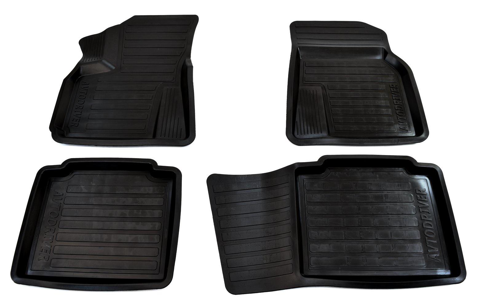 Коврики салона Avtodriver для Lifan Х60 (2012-) ADRAVG036, резиновые, с бортиком, черный молдинги green grain 4s 11 13 x60 abs lifan x60
