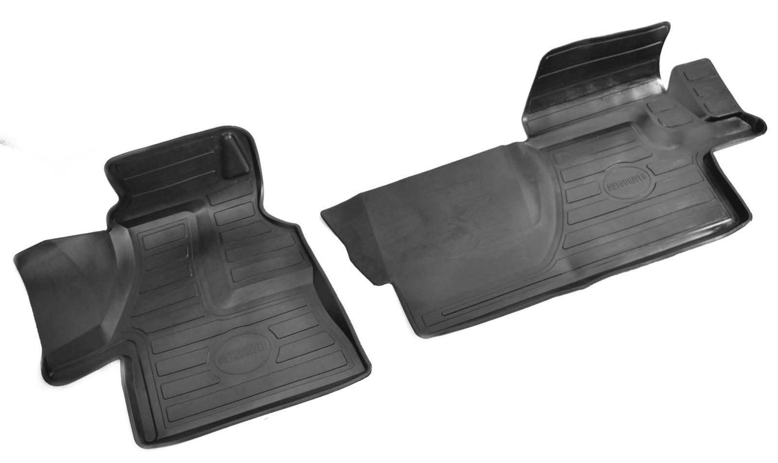 Коврики салона Avtodriver для Mercedes-Benz Sprinter Classic (2013-) (2 передних) ADRAVG167, резиновые, с бортиком, черный коврики салона avtodriver для mercedes benz e klasse w212 2007 adravg155 резиновые с бортиком черный