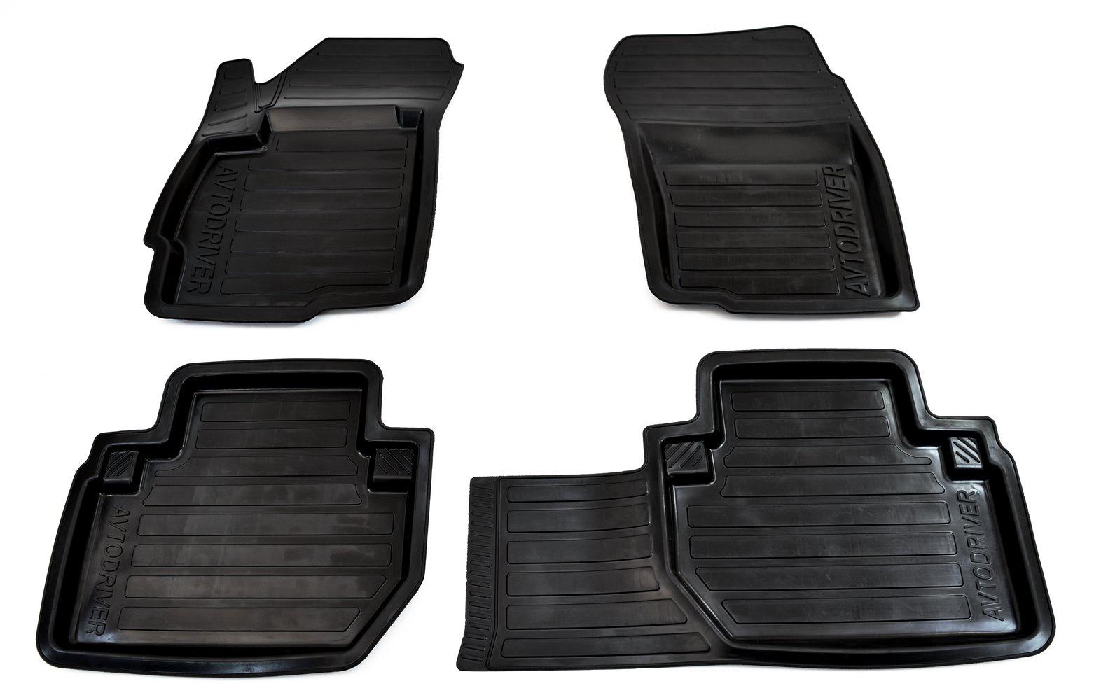 цена на Коврики салона Avtodriver для Mitsubishi Outlander (2012-) ADRAVG171, резиновые, с бортиком, черный