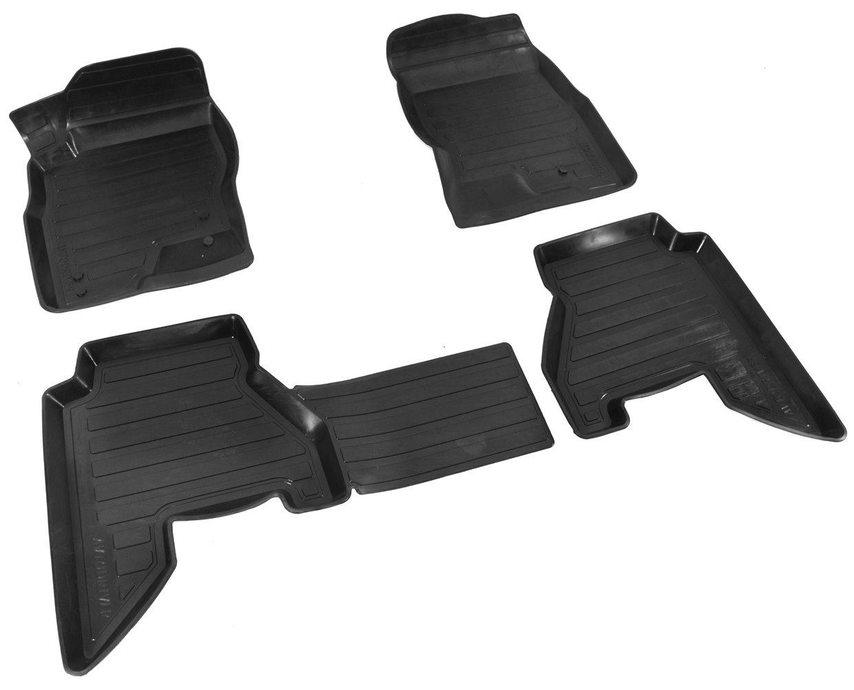Коврики салона Avtodriver для Nissan Pathfinder (2004-2014) ADRAVG158, резиновые, с бортиком, черный