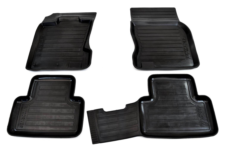 Коврики салона Avtodriver для Nissan Qashqai (2014-) (сборка Англия) ADRAVG006, резиновые, с бортиком, черный альтернативная оптика qashqai