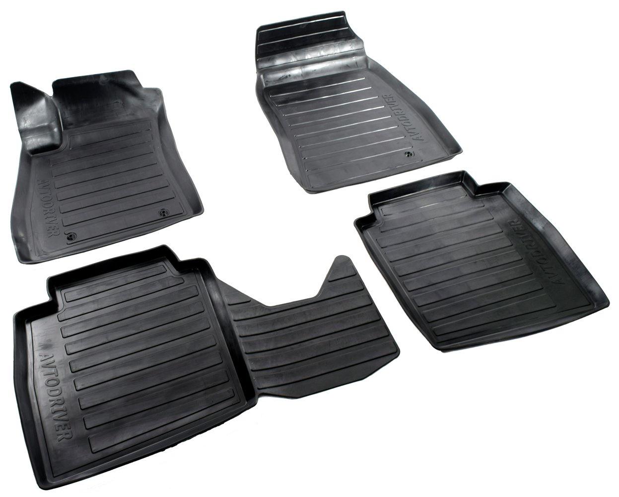 Коврики салона Avtodriver для Nissan Sentra (2013-) ADRAVG179, резиновые, с бортиком, черный текстильные коврики в салон nissan ke7454mf01 для nissan sentra 2014