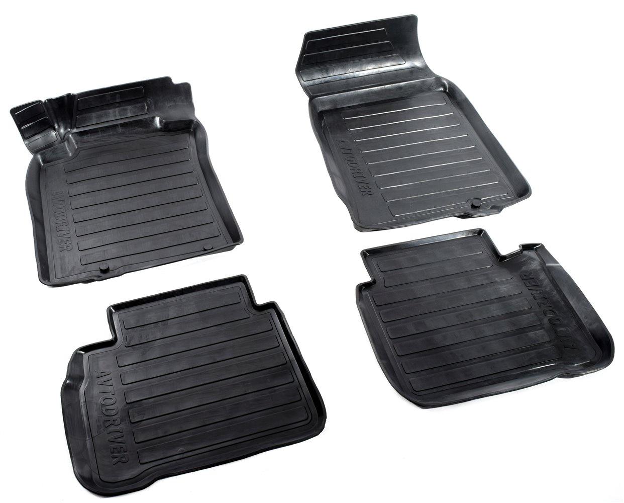 Коврики салона Avtodriver для Nissan Teana (2008-2014) ADRAVG160, резиновые, с бортиком, черный коврики салона avtodriver для renault duster передний привод 2011 adrjet023 резиновые с бортиком черный