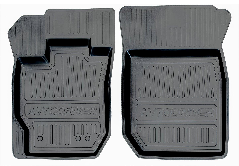Коврики салона Avtodriver для Renault Duster передний привод (2011-) (2 передних) ADRJET023-2, резиновые, с бортиком, черный коврики салона rival для toyota rav4 2013 2015 2015 н в резина 65706001