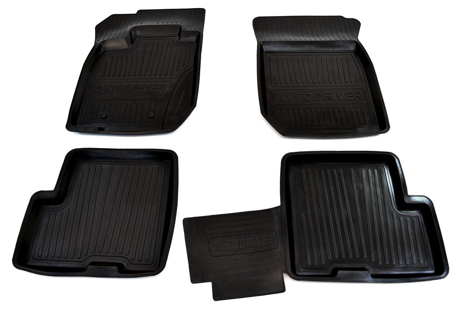Коврики салона Avtodriver для Renault Duster полный привод (2011-2015) ADRJET022, резиновые, с бортиком, черный wrap printed duster coat