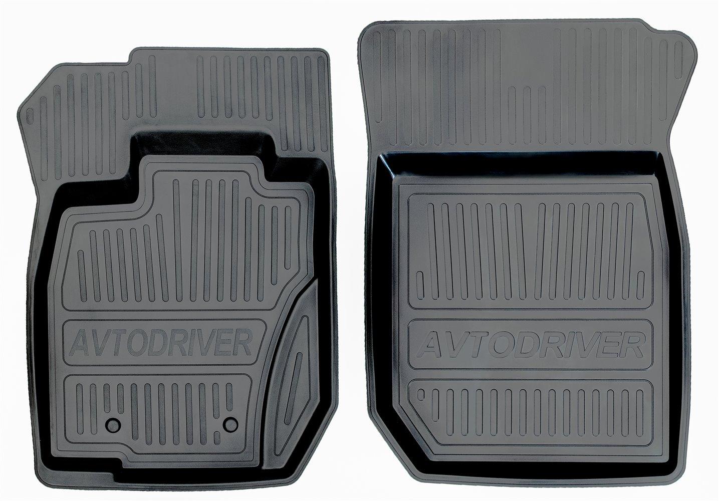 Коврики салона Avtodriver для Renault Duster полный привод (2011-2015) (2 передних) ADRJET022-2, резиновые, с бортиком, черный коврики салона avtodriver для renault duster передний привод 2011 adrjet023 резиновые с бортиком черный
