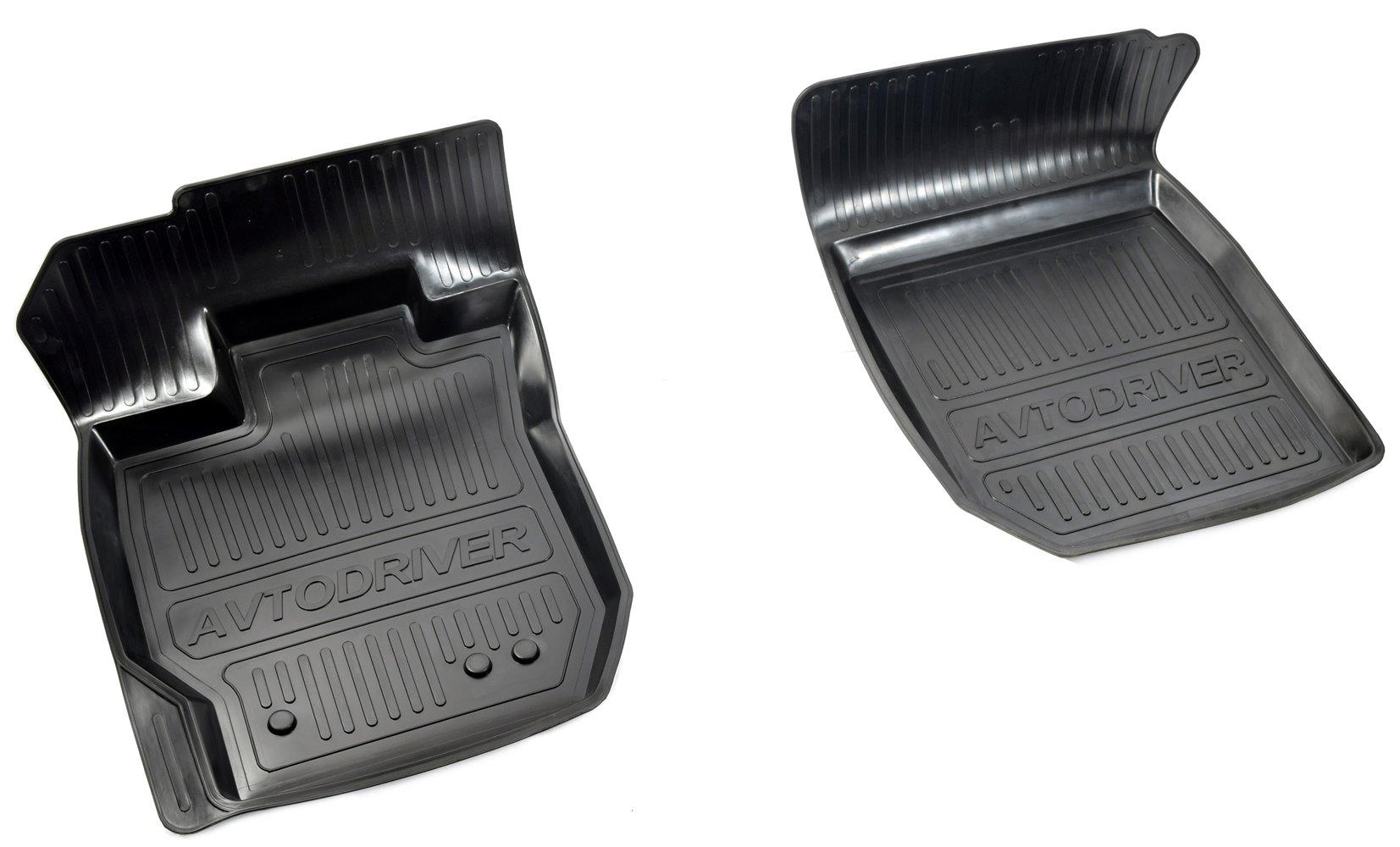 Коврики салона Avtodriver для Renault Duster полный привод (2015-) (2 передних) ADRJET045-2, резиновые, с бортиком, черный фаркоп renault duster 2012