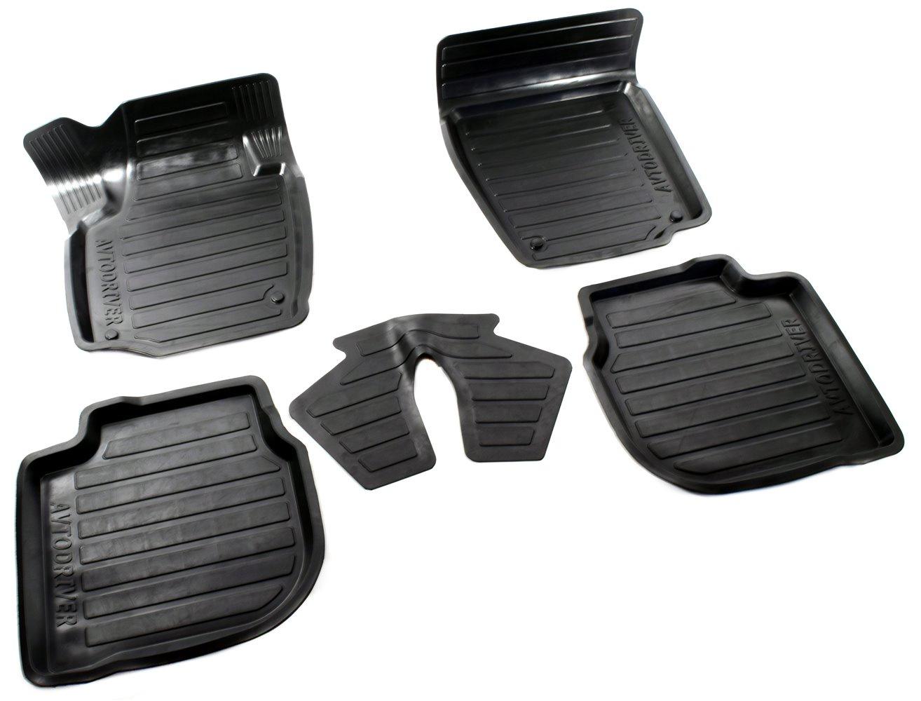Коврики в салон автомобиля Avtodriver, для Skoda Rapid, 2014-, ADRAVG002, резиновые, с бортиком, черный