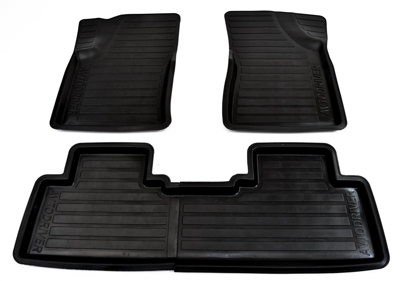 цена на Коврики в салон автомобиля Avtodriver, для SsangYong Actyon, 2011-, ADRAVG041, резиновые, с бортиком, черный