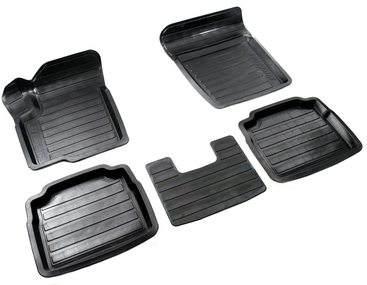 Коврики в салон автомобиля Avtodriver, для Suzuki sx 4, 2013-, ADRAVG106, резиновые, с бортиком, черный цены