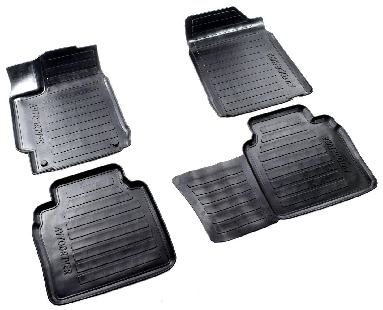 Коврики в салон автомобиля Avtodriver, для Toyota Camry, 2011-2014, ADRAVG201, резиновые, с бортиком, черный коврики салона avtodriver для renault duster передний привод 2011 adrjet023 резиновые с бортиком черный