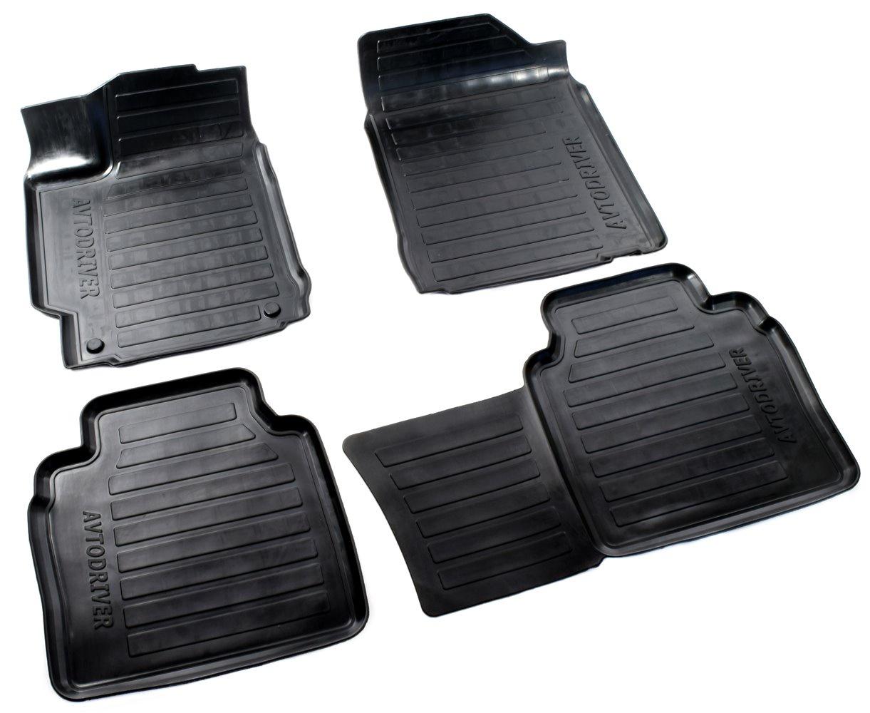 Коврики в салон автомобиля Avtodriver, для Toyota Camry, 2014-, ADRAVG240, резиновые, с бортиком, черный комплект ковриков в салон автомобиля klever toyota highlander 2014 standard