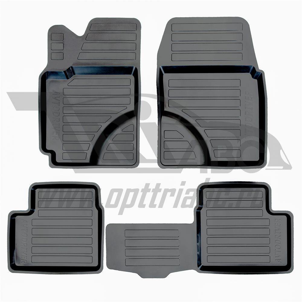 Коврики в салон автомобиля Avtodriver, для Toyota Corolla, 2003-2006, ADRAVG112, резиновые, с бортиком, черныйADRAVG112Точное прилегание Высокие бортики Не скользятПодходит на:TOYOTA Corolla 2004-2007 (E120/E130)TOYOTA Corolla 2001-2004 (E120/E130)Полиуретановые автомобильные коврики фирмы «Норпласт» надежно защищают обшивку салона и багажника от влаги и загрязнений. Это высококачественное изделие, которое гарантированно прослужит длительный срок. Каждый комплект ковриков производится индивидуально для определённой модели автомобиля. На этапе разработки изделий применяется технология 3D сканирования салона, благодаря чему, каждый коврик имеет оригинальную форму, которая точно повторяет контур пола или багажного отделения автомобиля.