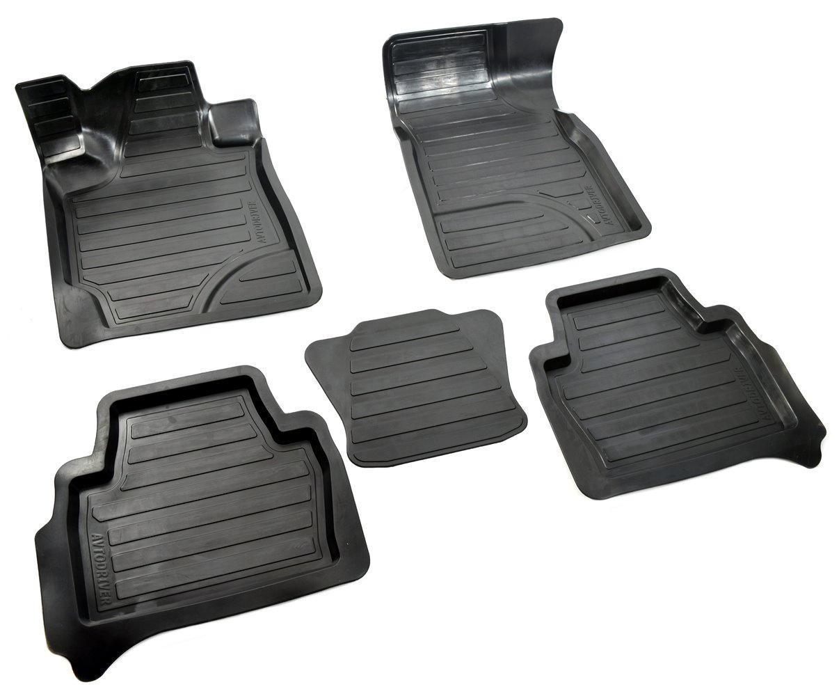 Коврики в салон автомобиля Avtodriver, для Toyota Highlander, 2007-2014, ADRAVG162, резиновые, с бортиком, черный комплект подкрылок с шумоизоляцией toyota nls48 58000 для toyota highlander 2017