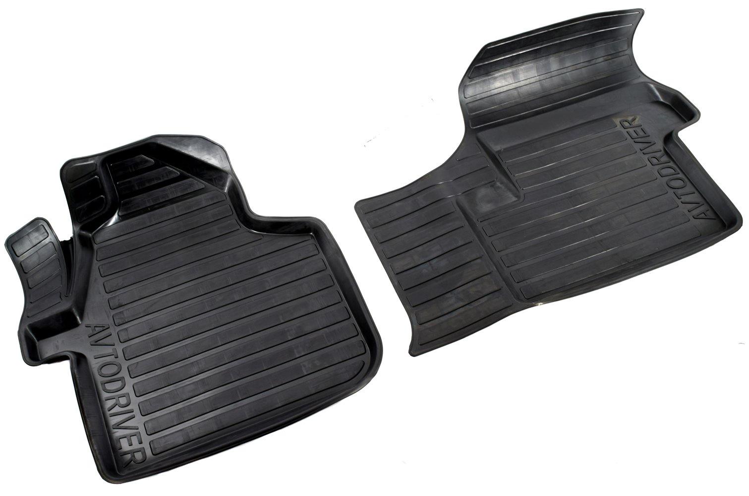 Коврики в салон автомобиля Avtodriver, для Volkswagen Crafter, 2006-2011, 2 передних, ADRAVG117, резиновые, с бортиком, черный