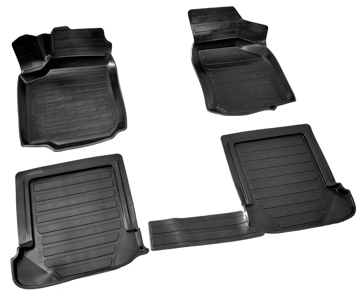 Коврики в салон автомобиля Avtodriver, для Volkswagen Golf IV, 1997-2006, ADRAVG259, резиновые, с бортиком, черный surkov v texts 1997 2010