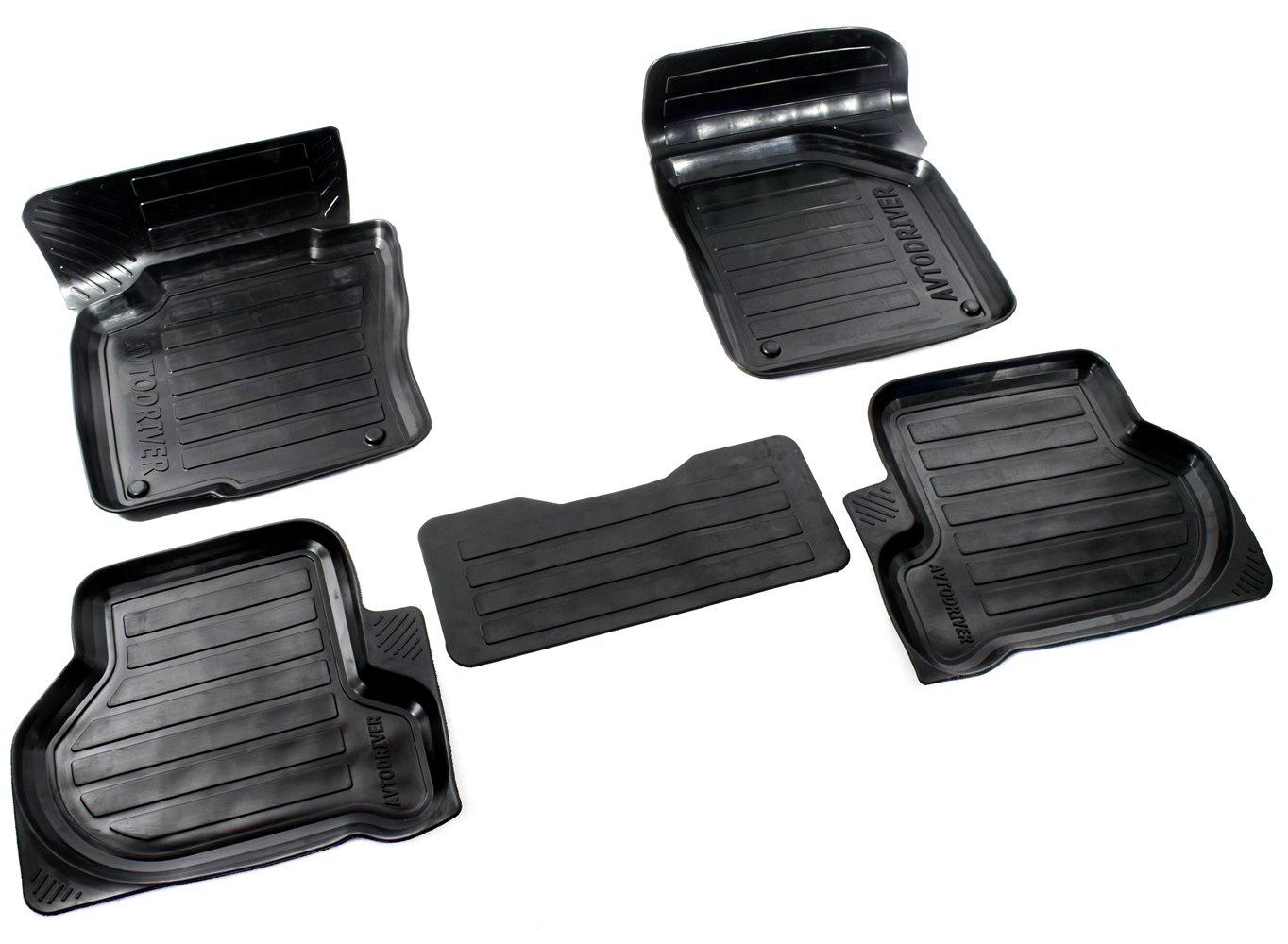 цена на Коврики в салон автомобиля Avtodriver, для Volkswagen Passat В6, 2005-2010, ADRPRO228, резиновые, с бортиком, черный