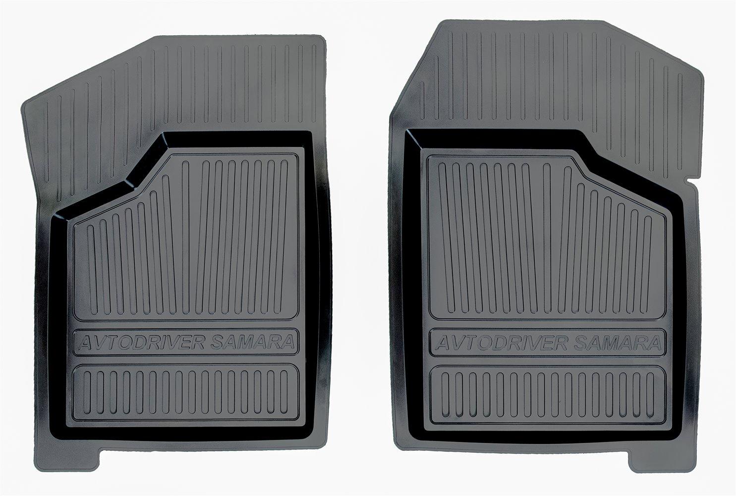 цена на Коврики в салон автомобиля Avtodriver, для ВАЗ 2108, 09, 14, 15, 1984-, 2 передних, ADRJET008-2, резиновые, с бортиком, черный