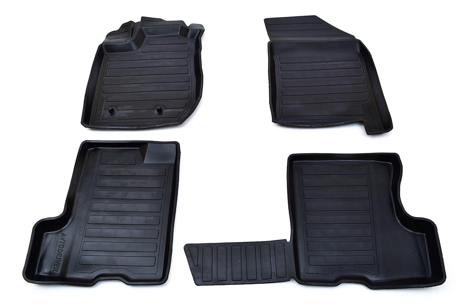 Коврики в салон автомобиля Avtodriver, для ВАЗ Xray с холодильником, 2016-, ADRAVG054, резиновые, с бортиком, черный коврики в салон полиуретановые xray 2016