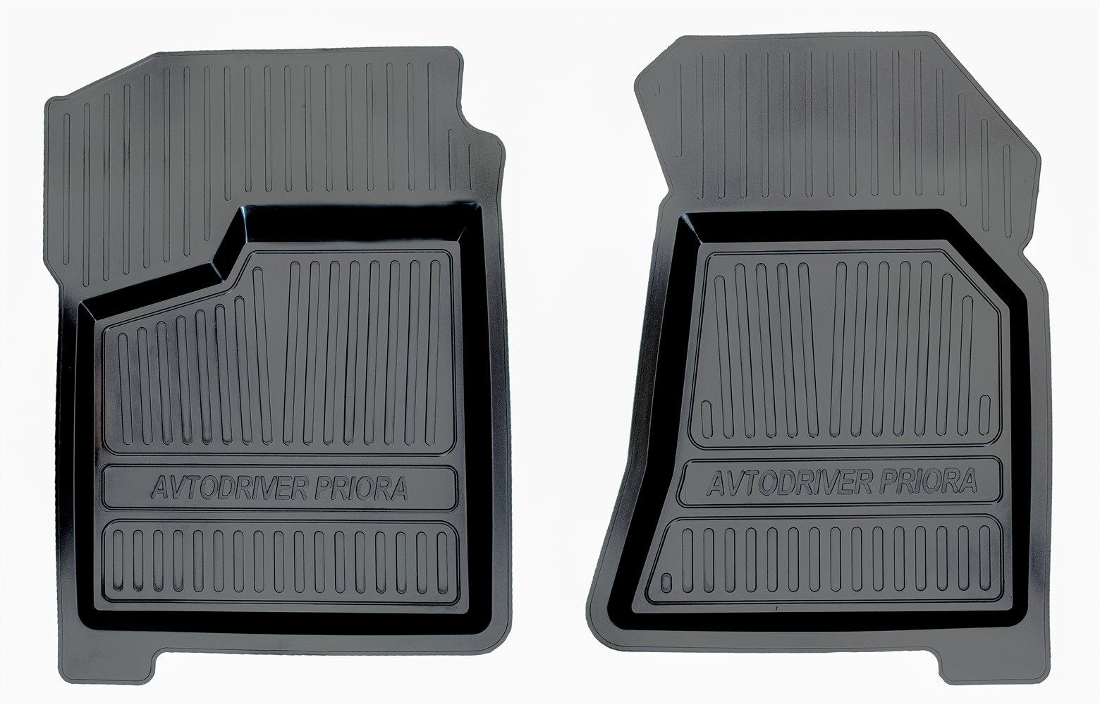 Коврики в салон автомобиля Avtodriver, для ВАЗ Приора, 2007-, 2 передних, ADRJET007-2, резиновые, с бортиком, черный коврики в салон автомобиля avtodriver для toyota highlander 2007 2014 adravg162 резиновые с бортиком черный