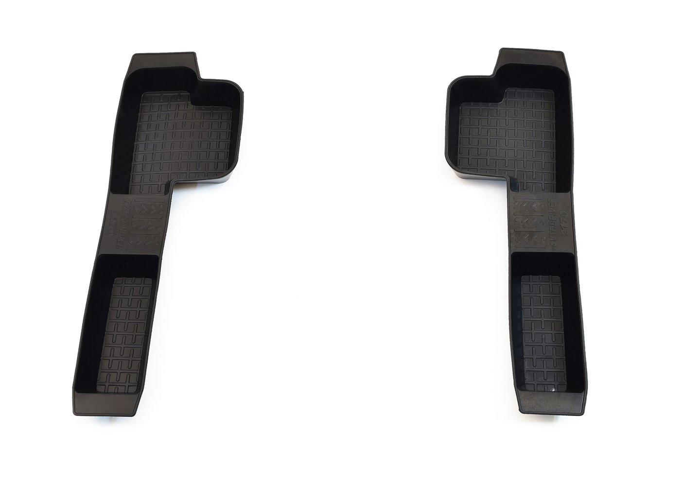 Коврики в салон автомобиля Avtodriver, для ВАЗ Приора 2170, 2007-, боковые передние Avtodriver, ADRJET020, резиновые, с бортиком, черный коврики салона avtodriver для mercedes benz e klasse w212 2007 adravg155 резиновые с бортиком черный