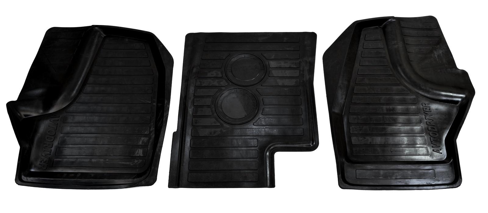 Коврики в салон автомобиля Avtodriver, для Газель Next, 2013-, Next, 2016-, ручка КПП на приборной панели, ГАЗон Next, 2014-, передние, ADRAVG247, резиновые, с бортиком, черный